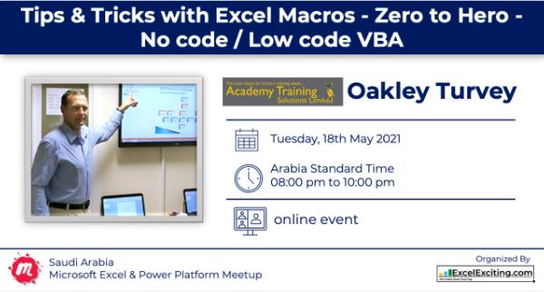Saudi Arabia Excel Meetup presentation