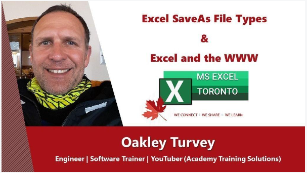 Excel Toronto MeetUp group presentation